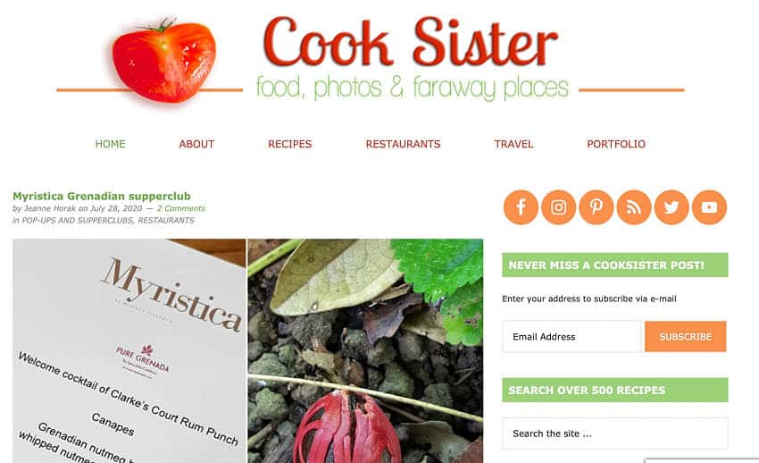 Cooksister 50 plus bloggers